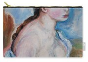Girl With With Daisies Renoir Carry-all Pouch