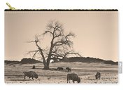 Give Me A Home Where The Buffalo Roam Sepia Carry-all Pouch