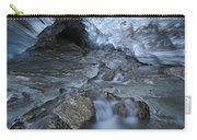 Glacial Creek Flowing From Blue Ice Carry-all Pouch