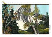 Glacier Peak After Bob Ross Carry-all Pouch by Barbara Griffin