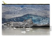 Glacier Tongue Calfing Icebergs Into Glacial Lake Carry-all Pouch