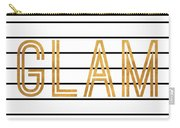 Glam Pinstripe Gold Carry-all Pouch