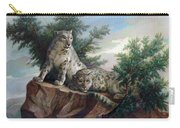 Glamorous Friendship- Snow Leopards Carry-all Pouch