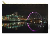 Glasgow Clyde Arc Bridge At Night Carry-all Pouch
