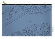 Glass Mold Patent On Blue Carry-all Pouch