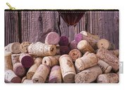 Glass Of Wine With Corks Carry-all Pouch