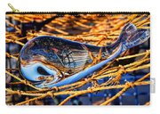 Glass Whale On Fishing Nets Carry-all Pouch