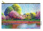 Glastonbury Abbey Lily Pool Carry-all Pouch by Jane Small
