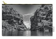 Glen Helen Gorge-outback Central Australia Black And White Carry-all Pouch