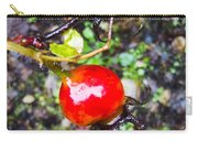 Glistening Wet Rose Hip Carry-all Pouch