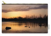 Gloaming - Subtle Pink Lavender And Orange At The Lake Carry-all Pouch