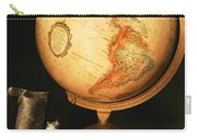 Globe And Books Carry-all Pouch