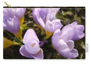 Glowing Floral Art Prints Crocus Flowers Carry-all Pouch