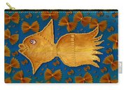 Glowing  Gold Fish Carry-all Pouch