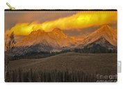 Glowing Sawtooth Mountains Carry-all Pouch