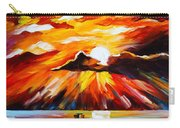 Glowing Sun Carry-all Pouch by Leonid Afremov