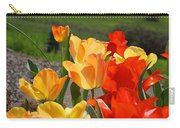 Glowing Sunlit Tulips Art Prints Red Yellow Orange Carry-all Pouch