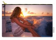 Glowing Sunrise. Greeting New Day  Carry-all Pouch