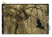 Gnarled And Twisted Tree With Crow Carry-all Pouch