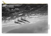 Gnats Inverted Black And White Version Carry-all Pouch