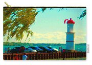 Go Fly A Kite Off A Short Pier Lachine Lighthouse Summer Scene Carole Spandau Montreal Art  Carry-all Pouch