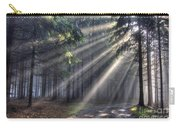 God Beams - Coniferous Forest In Fog Carry-all Pouch