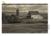 God Bless America Barn Black And White Carry-all Pouch