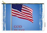 God Bless America Flag Carry-all Pouch