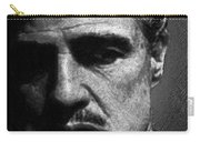 Godfather Marlon Brando Carry-all Pouch by Tony Rubino