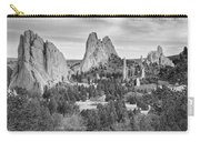 Gods Colorado Garden In Black And White    Carry-all Pouch