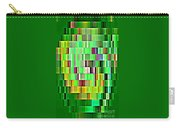 Going Green Geometric Abstractions Colorful Creations Designer Phone Cases 123 Carole Spandau Carry-all Pouch