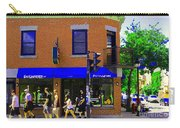 Going Places La Baguette Doree French Pastry Shop Busy Quebec Mont Royal City Scene Carole Spandau Carry-all Pouch
