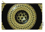 Gold And Black Stained Glass Kaleidoscope Under Glass Carry-all Pouch