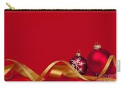Gold And Red Christmas Decorations Carry-all Pouch