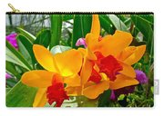 Gold And Red Orchids At Maerim Orchid Farm In Chiang Mai-thailan Carry-all Pouch