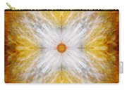 Gold And White Light Mandala Carry-all Pouch
