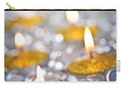Gold Christmas Candles Carry-all Pouch