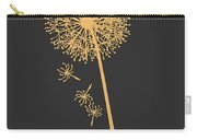 Gold Dandelion Carry-all Pouch