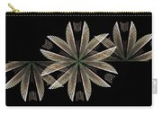 Gold Floral Abstract Carry-all Pouch