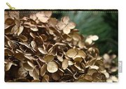 Gold Hydrangea Carry-all Pouch