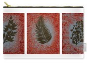 Gold Leaves On Orange Triptych Carry-all Pouch