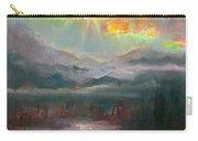 Gold Lining - Chugach Mountain Range En Plein Air Carry-all Pouch
