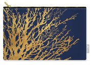 Gold Medley On Navy Carry-all Pouch