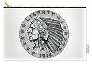 Gold Quarter Eagle Carry-all Pouch by Fred Larucci