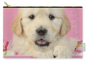Gold Retriever Pink Background Carry-all Pouch