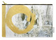 Gold Rush - Abstract Art Carry-all Pouch by Linda Woods
