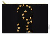 Gold Stars Abstract Triptych Part 2 Carry-all Pouch by Rose Santuci-Sofranko