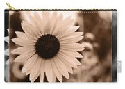 Gold Tone Sunflower Carry-all Pouch