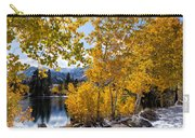 Golden Aspen On The Lake Carry-all Pouch