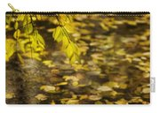 Golden Autumn Colour Foliage On Rainy Pond Carry-all Pouch